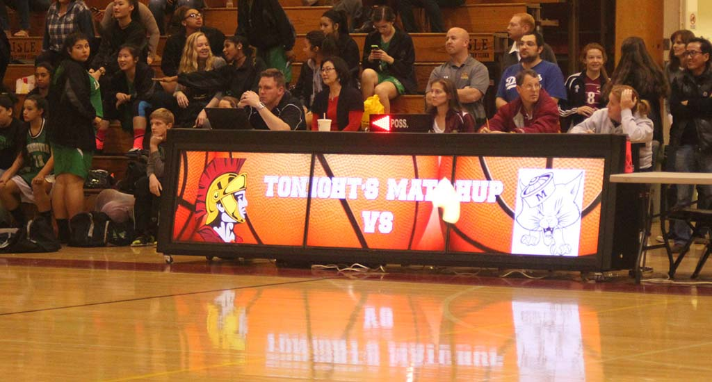 Scorers Table Led Scoring Table Sideline Interactive 832