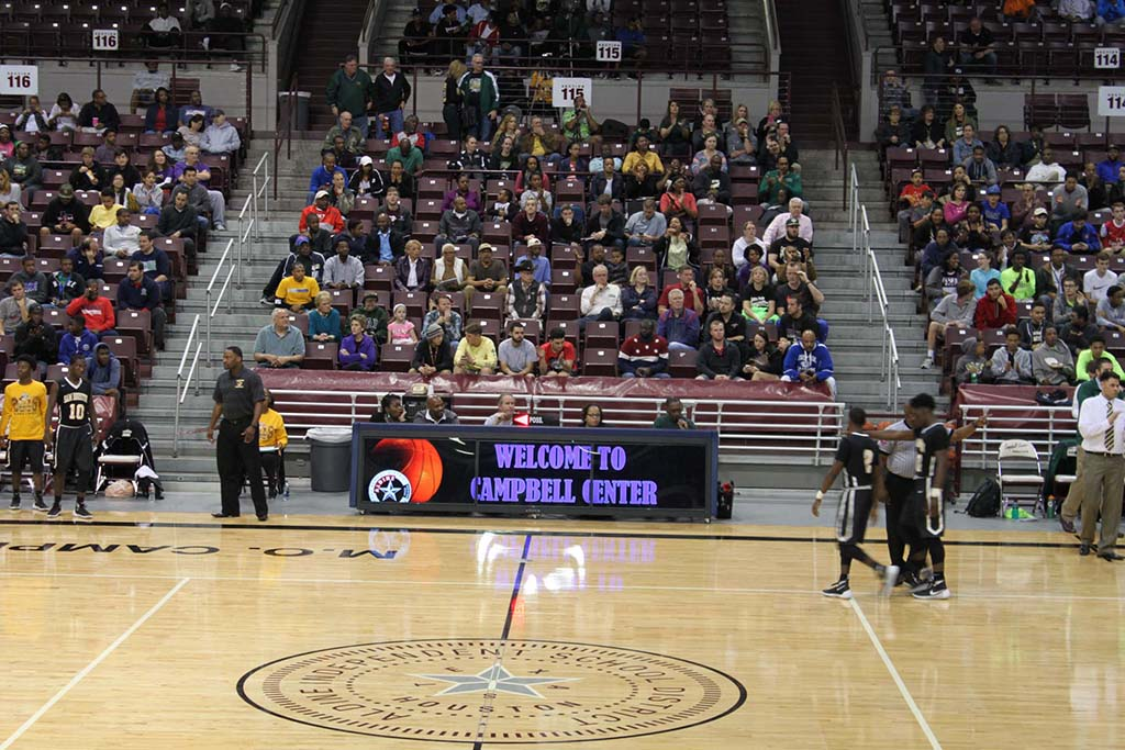 12ft TRIPLEVIEW digital scoring table at Aldine Campbell Center 7,000 seat stadium