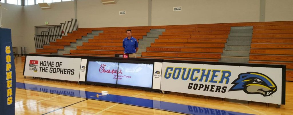 20ft digital scoring table with static scorer's table Goucher College, MD